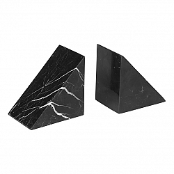 Blomus Knižní zarážky mramorové 2 kusy PESA černé