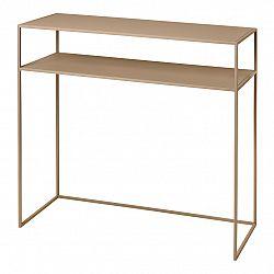 Blomus Konzolový odkládací stolek s poličkou FERA béžový