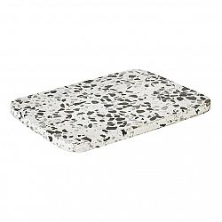 BLOMUS Omeo prkénko 1x20x15cm, bílá/tmavě šedá směs - 65685