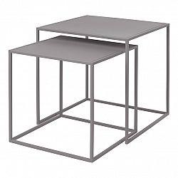 Blomus Set 2 ks konferenčních stolků FERA světle šedý
