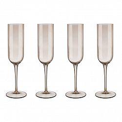 Blomus Set 4 sklenic flétna na šampaňské FUUM zlatavé sklo