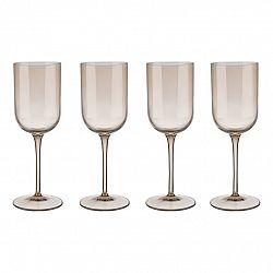 Blomus Set 4 sklenic na bílé víno FUUM zlatavé sklo