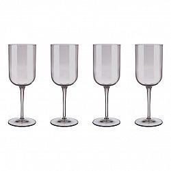 Blomus Set 4 sklenic na červené víno FUUM hnědé sklo