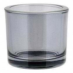 Blomus Svícen malý NERO kouřové sklo
