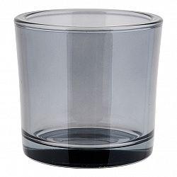Blomus Svícen střední NERO kouřové sklo