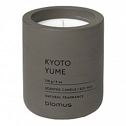Blomus Vonná svíčka ze sójového vosku FRAGA tmavě hnědá Ø 6,5 cm