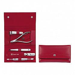 Manikúra 5dílná ZWILLING® Classic Inox červená s kleštěmi