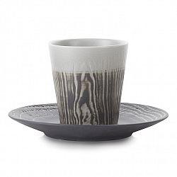 REVOL Hrnek na kávu 18 cl s podšálkem pepřový Arborescence