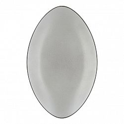 REVOL Talíř/podnos oválný 35 x 22,3 cm pepřová bílá Equinoxe