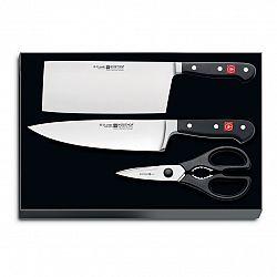 WÜSTHOF Sada nožů s nůžkami Classic 3 ks