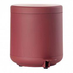 ZONE Koupelnový pedálový koš maroon red UME