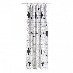 ZONE Sprchový závěs 180 x 200 cm black HARLEQUIN