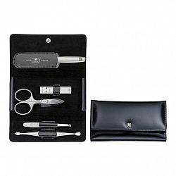 ZWILLING Manikúra 5dílná TWINOX® Spazzolato černá s kleštičkami